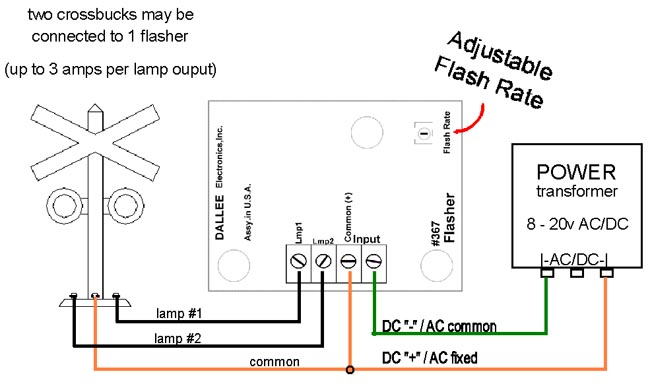 grade crossing flasher control module wire diagram